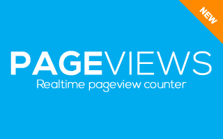 Pageviews Realtime Counter