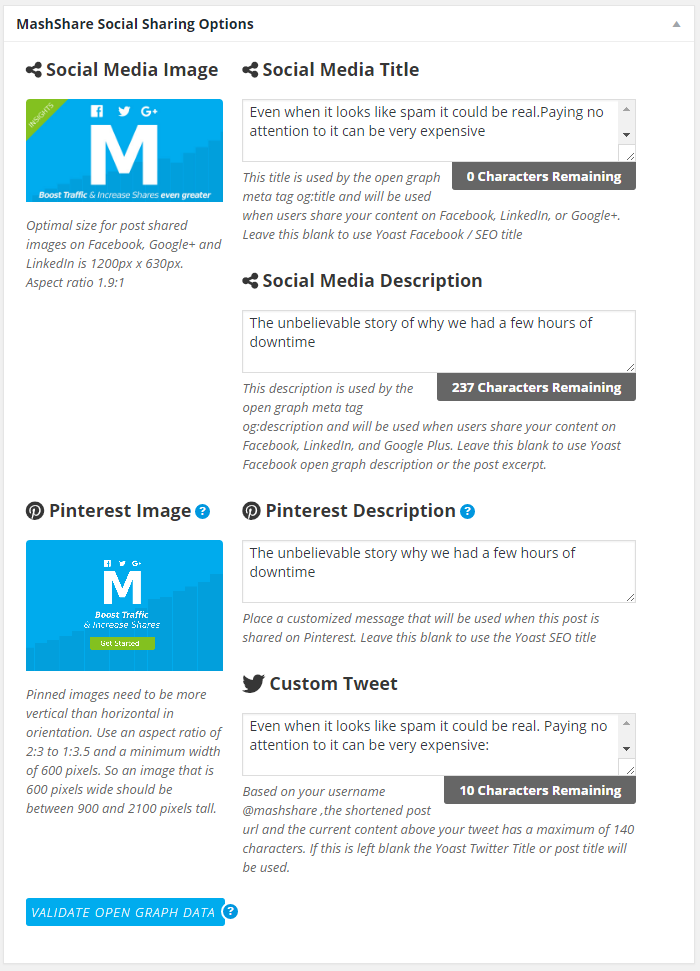 Open Graph and Twitter Cards